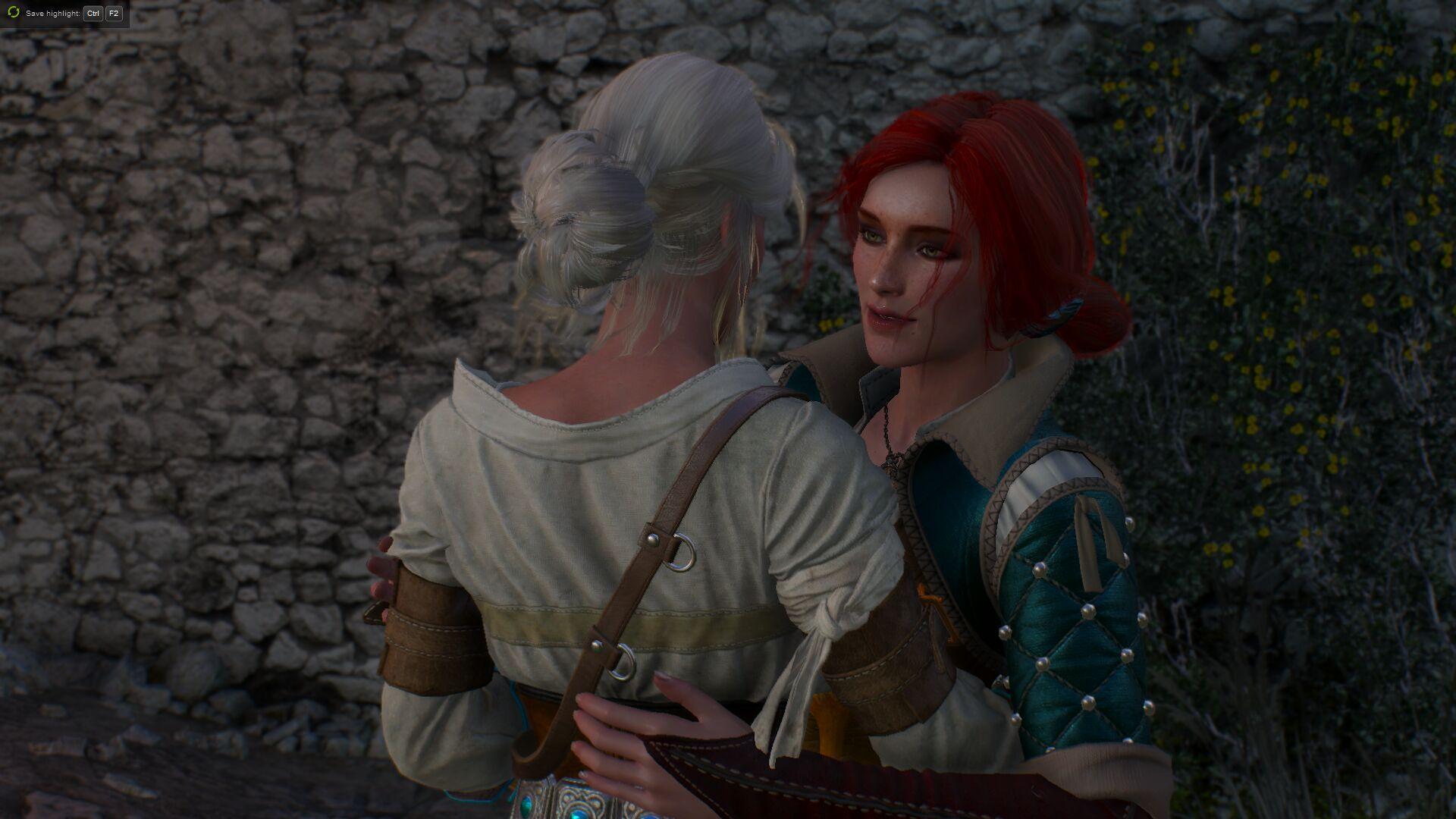 Трисс обнимает Цири