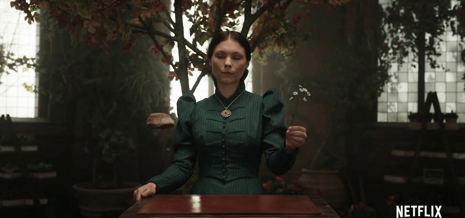Кадр из трейлера Ведьмак с Майанной Беринг